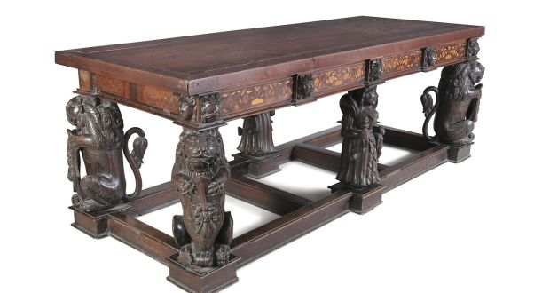 Table Formed From Spanish Armada Parts Up For Auction