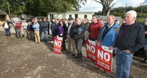 Protestors opposing the sale of the farm in Co Meath Photograph: IFA/Twitter