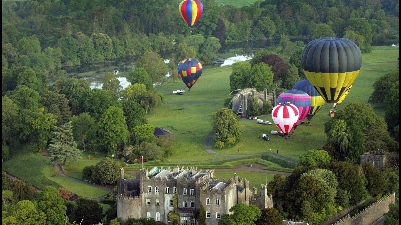 Hot Air Balloon in the Sky Print Sports Bag