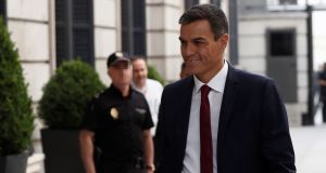 Spanish prime minister Pedro Sanchez: said the allegations were part of an attempt by parties on the political right to discredit him. Photograph:  Mariscal/EPA