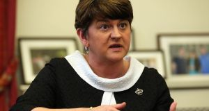File photograph of DUP leader Arlene Foster. File photograph: Niall Carson/PA Wire