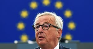 In his final state of the union speech as European Commission president, Jena-Claude Juncker set out 18 new ideas – many of which seemed like direct retorts to the EU's critics. Photograph: Frederick Florin/AFP/Getty Images