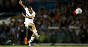 Kemar Roofe is the latest Leeds United forward to suffer injury. Photograph:  Tim Goode/PA Wire