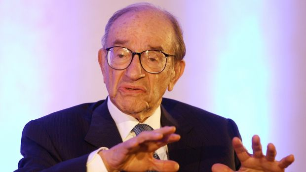 "Alan Greenspan, former Federal Reserve chairman, said the crisis ""is probably a once in a century event"". Photograph: Bloomberg"