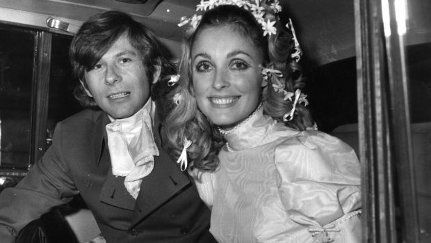 Sharon Tate and husband Polish film director Roman Polanski on their wedding day. Her wedding dress will be on display in Newbridge. Photograph: Evening Standard/Getty Image