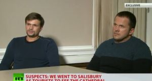 Ruslan Boshirov and Alexander Petrov: accounts of their movements around Salisbury in March appear inconsistent.