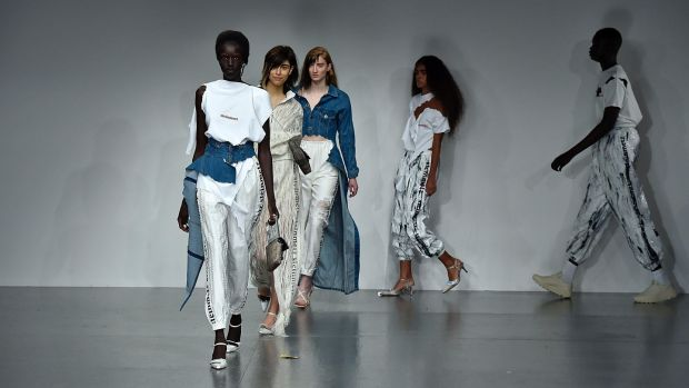 Faustine Steinmentz runway at London Fashion Week September last year. Photograph: Victor Virgile/Gamma-Rapho/Getty Images