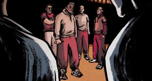 Irish prisons: warring gangs use threats and acts of violence against other inmates, their family members and staff. Illustration: Dearbhla Kelly