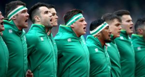Joe Schmidt's Ireland are second favourites a year out from the 2019 Rugby World Cup in Japan. Photograph: Bryan Keane/Inpho