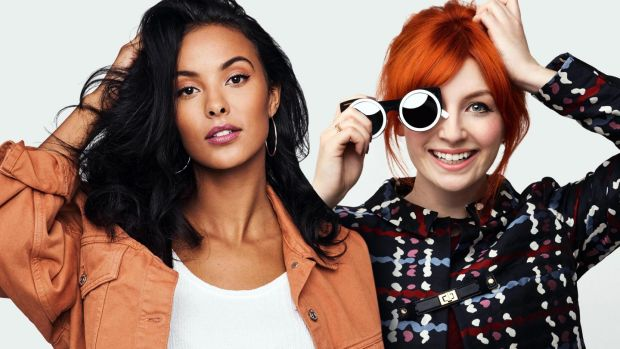 Maya Jama and Alice Levine, hosts of The Circle