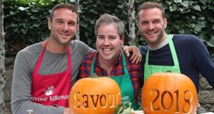 The Happy Pear brothers and Edward Hayden launching Savour Kilkenny