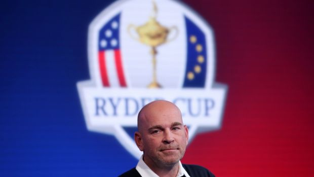 A small number of AIB clients will catch Europe Ryder Cup team captain Thomas Bjorn at Le Golf National in France later this month. Photograph: PA Wire