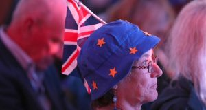 Supporters at a national programme of Brexit-focused action at the Town Hall in Dover on  Friday, September 14th. Photograph: Gareth Fuller/PA