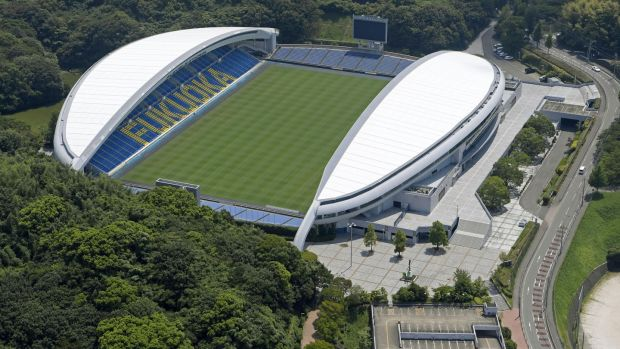 Level5 Stadium in the southwestern Japan city of Fukuoka. Photograph: Kyodo News via Getty Images