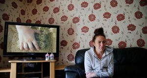 Claire Elliott at the house in Belcamp Avenue. She has been on the council housing list since 2008. Photograph: Nick Bradshaw for The Irish Times
