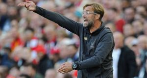 Liverpool manager Jürgen Klopp:  We need to be on our top level for Spurs clash. Photograph:  Peter Powell/Reuters