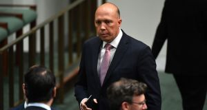 Peter Dutton:  the minister intervened in the cases of three European women and their visas were reinstated. Photograph: EPA/Mick Tsikas