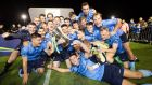 UCD celebrate winning the SSE Airtricity League first division after their 1-1 draw with Finn Harps  at UCD Bowl. Photograph: Ryan Byrne/Inpho