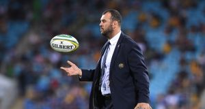 Michael Cheika's Wallabies will drop to seventh in the next world rankings after defeat to Argentina. Photograph: Dave Hunt/EPA