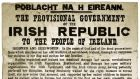 An original Proclamation document  was to be the star lot of the Eclectic Collector sale at Whyte's Auction House in Dublin, featuring various historical documents and artefacts, before a private sale was agreed. File photograph: Whyte's