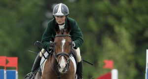 Sarah Ennis lies in the individual bronze medal position in North Carolina. Photograph: Morgan Treacy/Inpho