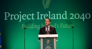 Taoiseach Leo Varadkar launching Project Ireland 2040; the National Planning Framework and the 10 year National Development Plan.  Photograph: Alan Betson