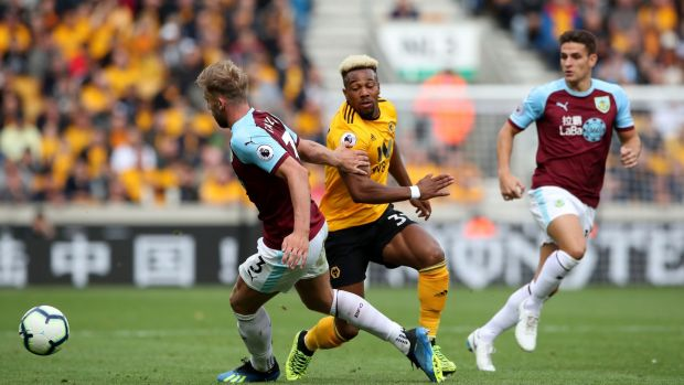 Adama Traore impressed off the bench as Wolves beat Burnley 1-0. Photograph: Nick Potts/PA