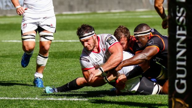 Marcell Coetzee scored one of Ulster's three tries against the Southern Kings. Photograph: Michael Sheehan/Gallo/Getty