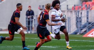Henry Speight carries during Ulster's win away to the Southern Kings. Photograph: Michael Sheehan/Gallo/Getty