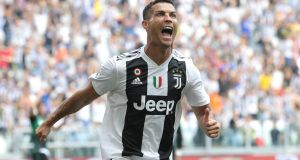 Cristiano Ronaldo scoring for  Juventus. Any unstoppable free kicks or sumptuous volleys will this season be delivered for  the Italian team. Photograph: Getty Images