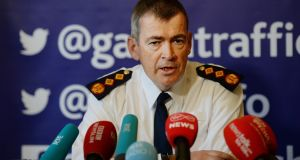 Garda Commissioner Drew Harris  said gardaí were verbally and physically abused on the evening in question and that one Garda member suffered racial abuse.  Photograph: Cyril Byrne