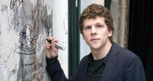 "Jesse Eisenberg: ""I spent the first 30 years worrying about things that were invisible, and now I get to worry about something that's visible,"" the actor says about having a son. Photograph: Mike Pont/WireImage/Getty"