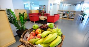 The provision of fruit, social zones and quiet spaces are becoming more common in the Irish workplace. Photograph: iStock