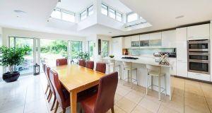 A vast Poggenpohl kitchen and informal dining area were added in the ground-floor extension.