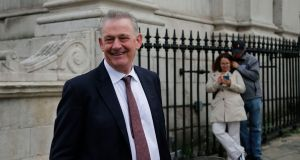 Businessman Peter Casey at City Hall in Dublin. Photograph: Nick Bradshaw/The Irish Times