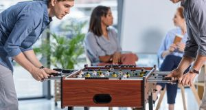 Remote working, better holidays, continuous professional development are more important to graduates today than gimmicks such as foosball tables. Photograph: iStock.