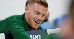 Ireland's James McClean hopes to be fit for the Nations League fixtures in October. Photograph: Andrew Boyers/Reuters