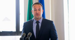Taoiseach Leo Varadkar  at the launch of the Land Development Agency. Photograph: Gareth Chaney Collins