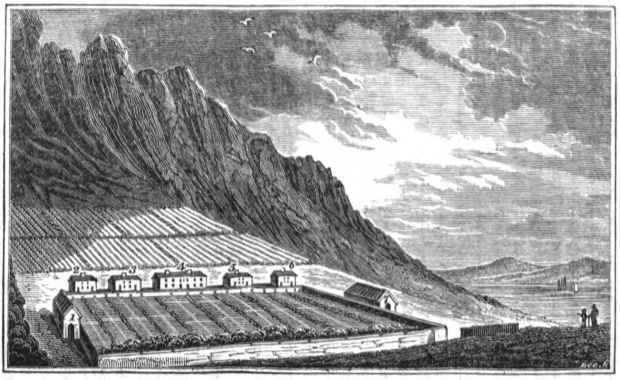 Woodcut Of Achill Colony from John Barrow's A Tour Round Ireland Through The Sea-Coast Counties In The Autumn Of 1835
