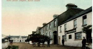 The main street of the Achill Mission Colony