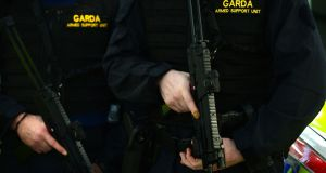 The Garda Armed Support Unit was called to an eviction dispute in Dublin's north inner city.  File photograph: Dara Mac Dónaill/The Irish Times