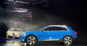 Audi unveils its first production all-electric vehicle, the e-Tron SUV, which will go on sale early in 2019.