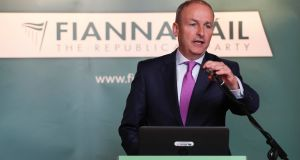 Fianna Fáil leader Micheál Martin: has rejected Leo Varadkar's request to begin talks before the budget. Photograph: Conor McCabe Photography