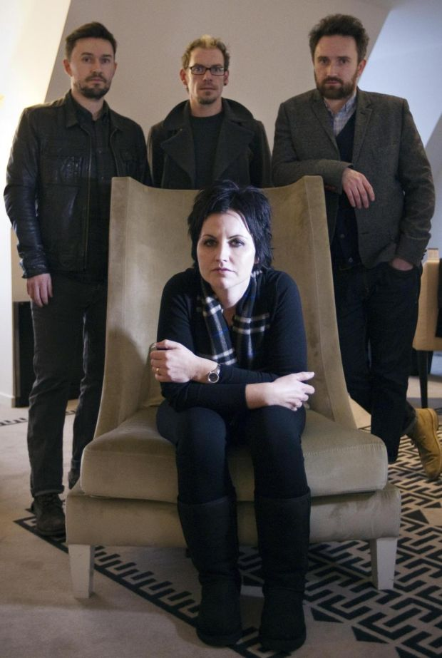 The Cranberries: Dolores O'Riordan, Mike Hogan, Fergal Lawler and Noel Hogan in 2012. Photograph: Joel Saget/AFP/Getty