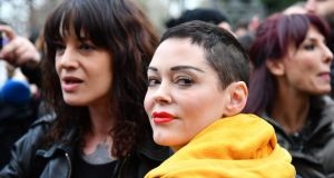 Assault claims: Asia Argento and Rose McGowan at a #MeToo rally in Rome in March. Photograph: Alberto Pizzoli/AFP/Getty