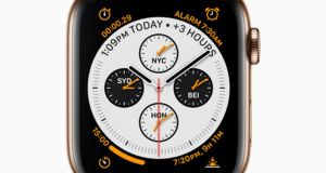 Series 4 of Apple's smartwatch: bigger watch face.