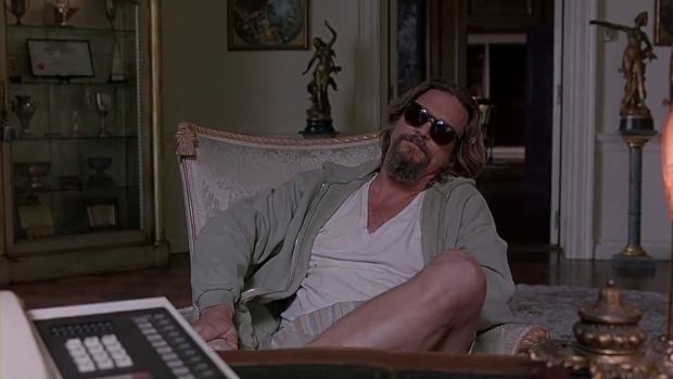 Jeff Bridges as The Dude (or, uh, His Dudeness, or uh Duder, or El Duderino, if you're not into the whole brevity thing)