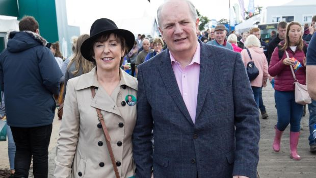 Gavin Duffy and his wife Orlaith Carmody are pictured at the National Ploughing Championships in Screggan, Co Offaly on Tuesday. Photograph: Tom Honan/The Irish Times.