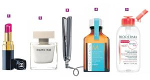 Recommended: some of my favourites from Chanel, Narciso Rodriguez, ghd, Moroccanoil and Bioderma