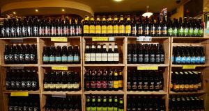 The Public Health (Alcohol) Bill includes measures on segregating alcohol sales in shops and placing health warnings on labels. Photograph: Alan Betson/The Irish Times.